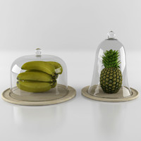 3d model fruit tableware table