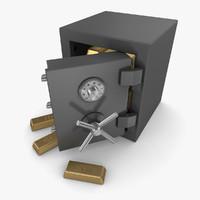 3d safe gold bar