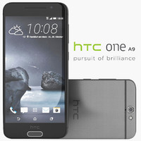 3d model htc a9 carbon gray