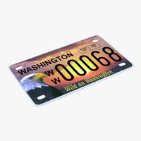 3ds washington license plate
