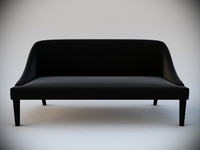 black velvet sofa interior 3d max