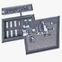 3d model building roof ventilation equipment