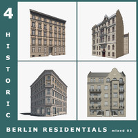 4 historic berlin residentials 3ds