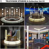 3d model television studios vol 01