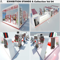 3d model exhibition stands vol 04