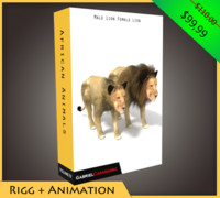 pack african animals 3d model