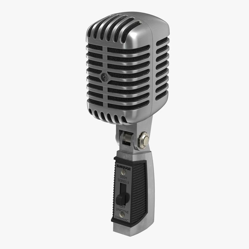 Classic Studio Microphone 3d model 00.jpg