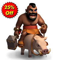 3d model of clash clans