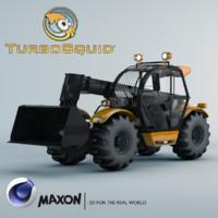 telescopic handler truck 3d c4d