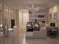 includes modern furniture 3d 3ds