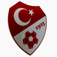 3d turkish football federation logo