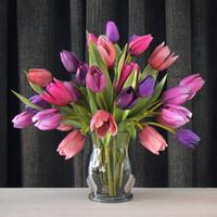 bouquet tulips 3d max