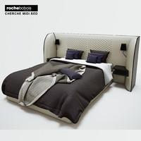 3d model rochebobois cherche midi bed