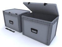3d plastic container crate model