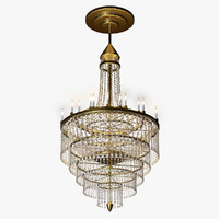 3ds max crystal chandelier candle light