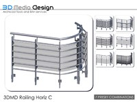 3d model of 3dmd railings
