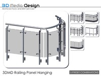3dmd railing panel hanging 3d 3ds