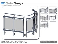 3DMD Railing Panel Outer V2.3