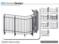 3DMD Railing Vertical Bar V1.4