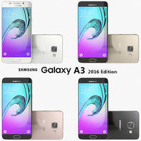 3d model samsung galaxy a3 2016