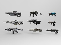 3d futuristic weapons model