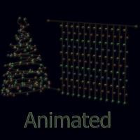 3dsmax led garlands animation