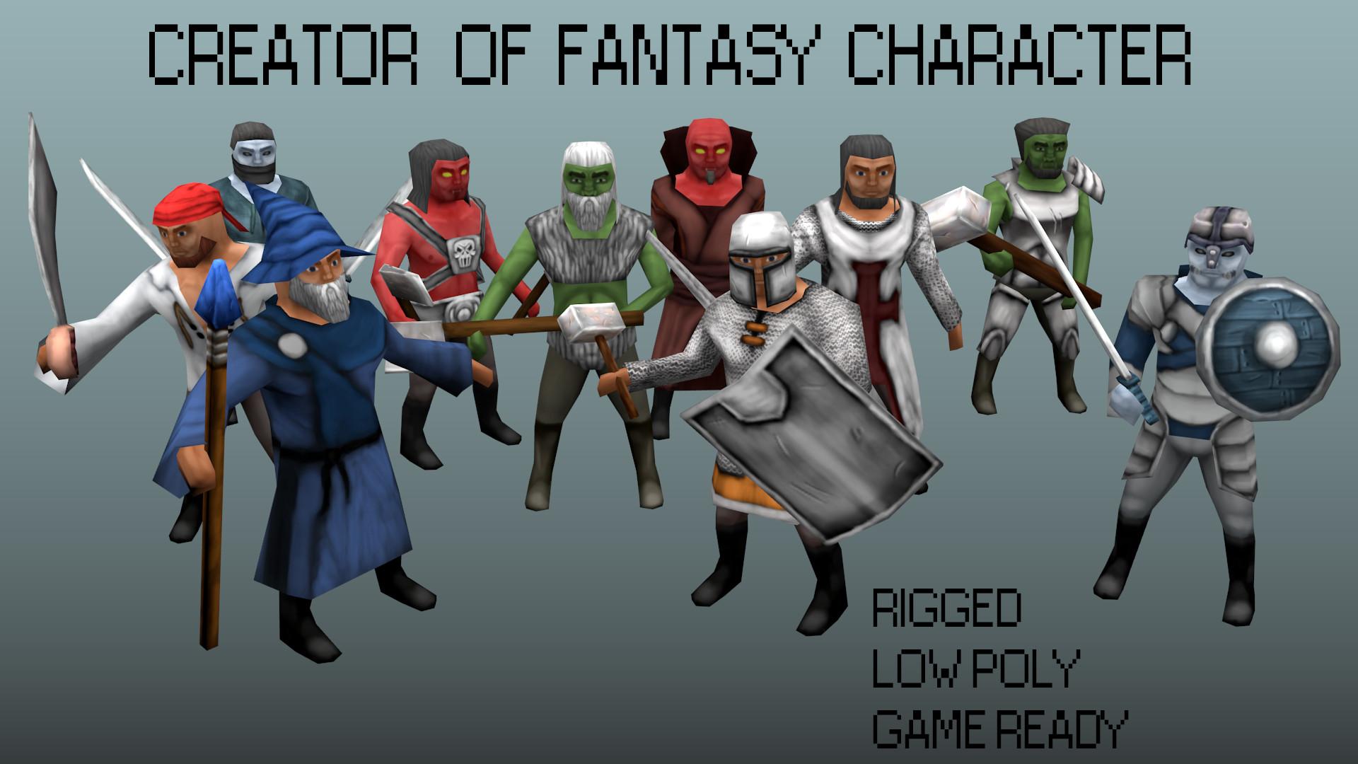 3d Creator Fantasy Character Human