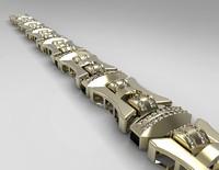 3d bracelet chain