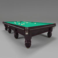 russian billiard table 3d model