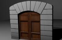 3d model cathedral door