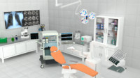3d model of operating room er