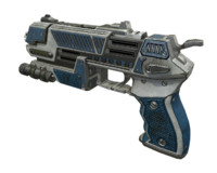 sci-fi pistol gun obj
