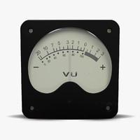 3d vintage meter model