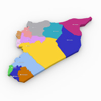 free administrative syria 3d model