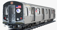 3d new york r160 subway train model
