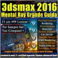 Corso 3ds max 2016 Mental Ray Grande Guida CD Front