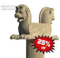3ds max lion capital column persepolis