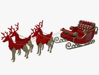 3d max christmas sleigh