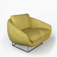 3d model of milo baughman lounge