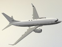 3d boeing 737-700 c-40a clipper model