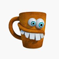 funny mug 3d model