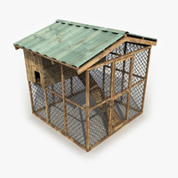 henhouse modeled games 3d model