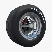 wheel shelby 3d obj