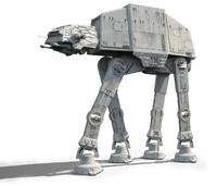 star wars at-at imperial walker 3d model