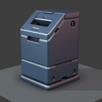 3d model sci-fi trash bucket