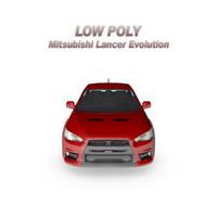Low Poly Mitsubishi Lancer