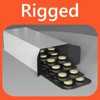 rigged pills 3d c4d