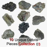 3dsmax debris pieces realistic