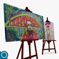 max easel paintings stationery