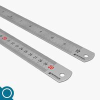 metal ruler 3d max
